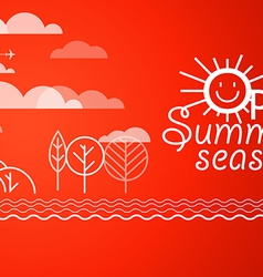 Summer vacation Vacation design template Open sum vector image