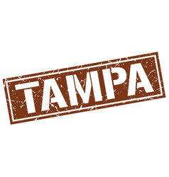 Tampa brown square stamp vector