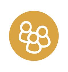 Teamwork doodle symbol vector