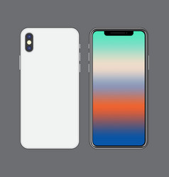 Template smartphone mock up vibrant colorful vector
