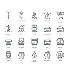 Transport icons front view part ii vector