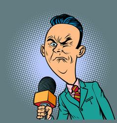 wrinkled nasty bad reporter correspondent vector image