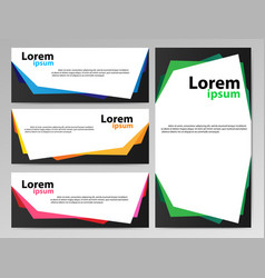 banners paper vector image vector image