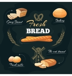 Chalkboard bakery cafe menu template vector image