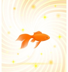 gold fish 01 vector image vector image