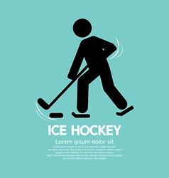 Ice Hockey Player Symbol vector image vector image