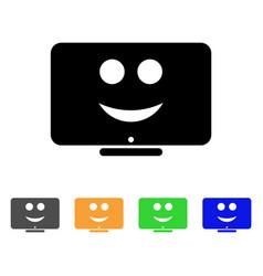Display happy smiley icon vector