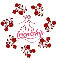 Frame with Friendship Day title children friends vector image vector image