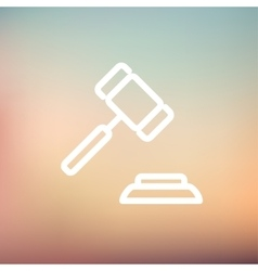 Gavel thin line icon vector image