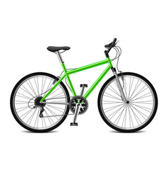 geen bicycle isolated on white vector image vector image