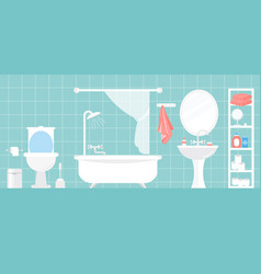 modern bathroom interior in vector image