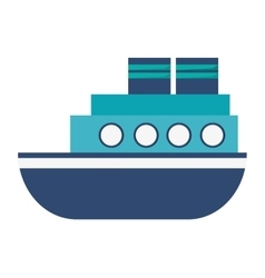 motor boat icon vector image