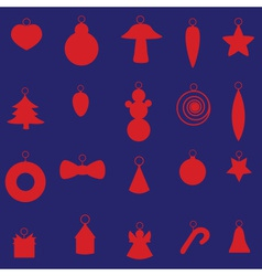 red christmas decoration set eps10 vector image vector image