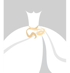 Bride dress background vector image