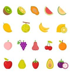 Color icon set - Fruits vector image