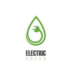 electric green logo vector image vector image