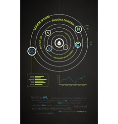 infographics abstract presentation of business vector image