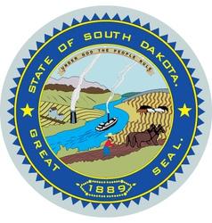 South Dakota Seal vector image vector image