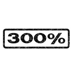 300 percent watermark stamp vector