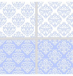Blue seamless ethnic pattern set vector image vector image