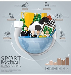 Global sport football tournament infographic with vector