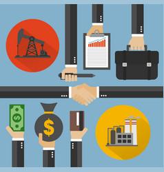 oil business modern concept design flat vector image