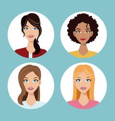 set women friends community vector image