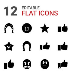 12 good icons vector image