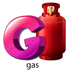 A letter G for gas vector