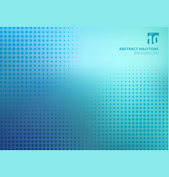 abstract blue halftone texture on blurred vector image