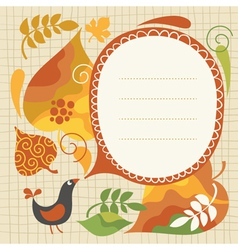 autumnal vector image