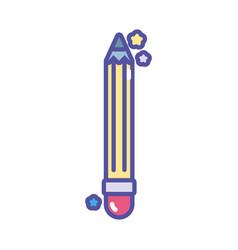 Back to school education write pencil supply vector