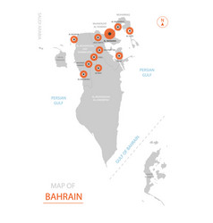 Bahrain map with administrative divisions vector