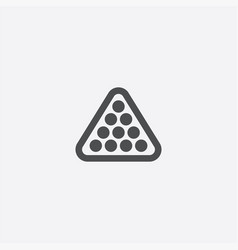 billiards icon vector image