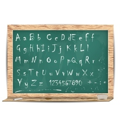 Blackboard for your message alphabet vector
