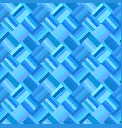 blue geometrical diagonal rectangle tile mosaic vector image