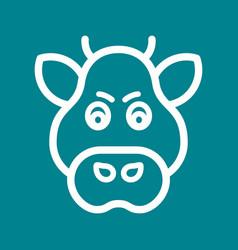 Boar face vector