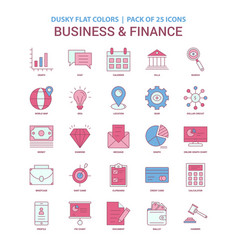 business and finance icon dusky flat color vector image