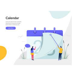 calendar concept modern flat design concept of vector image