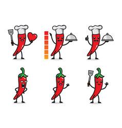 chilli mascot character design vector image