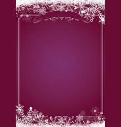 christmas gradient purple with retro border and vector image