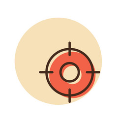 Crosshairs target destination icon vector