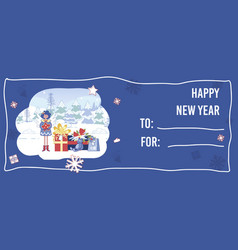 Cute new year and christmas flyer with copy space vector