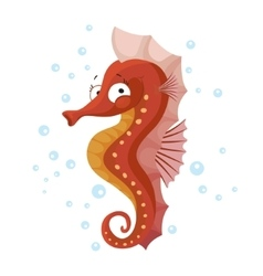 Cute seahorse isolated t-shirt design for children vector