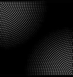 dark halftone circle dotted corners vector image