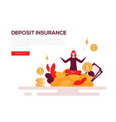 deposit insurance - colorful flat design style web vector image