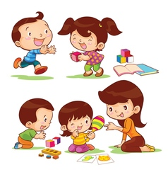 Educate children vector