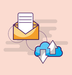 email communication cloud computing download and vector image