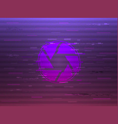 glitch shutter on bright background modern vector image