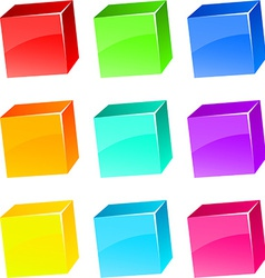 Glossy cubes vector